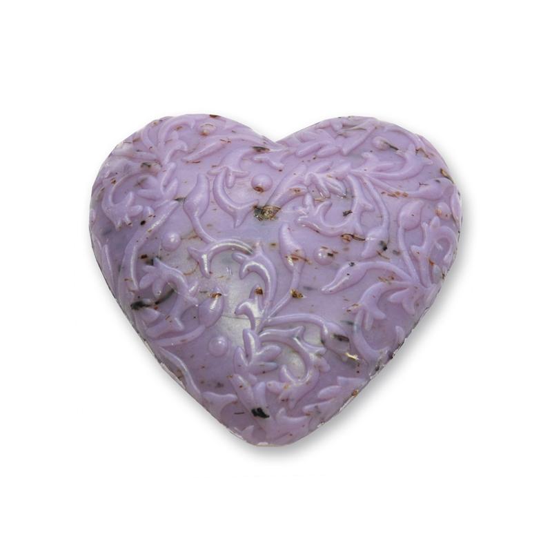 Juhtejes levendula szappan - szív
