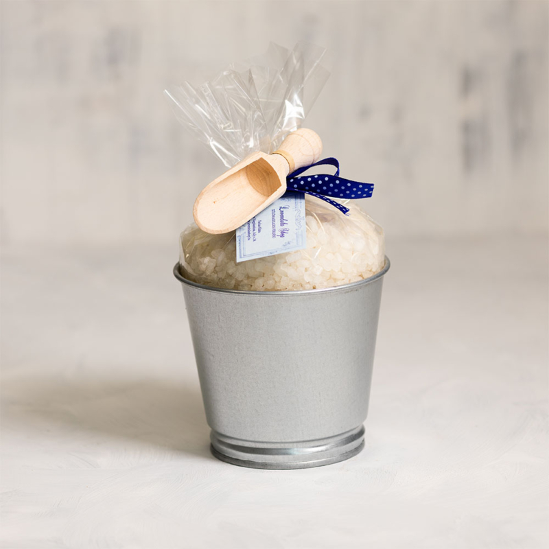 Szőlőmagolajos fürdősó vödör