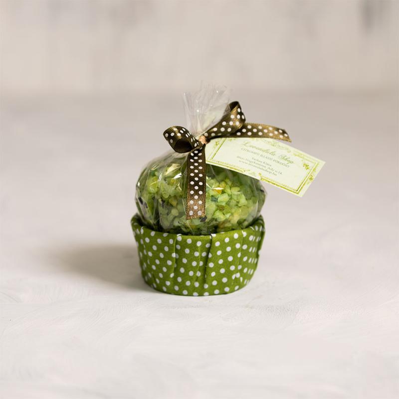 Citromfüves fürdősó muffin