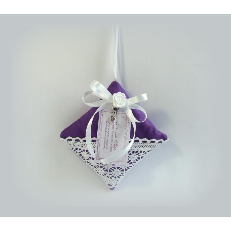 Vintage párna - sötét lila