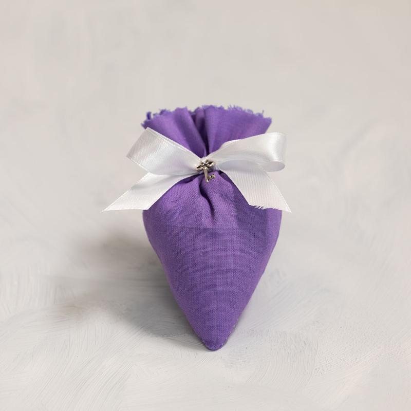 Levendula szív batyu - világos lila