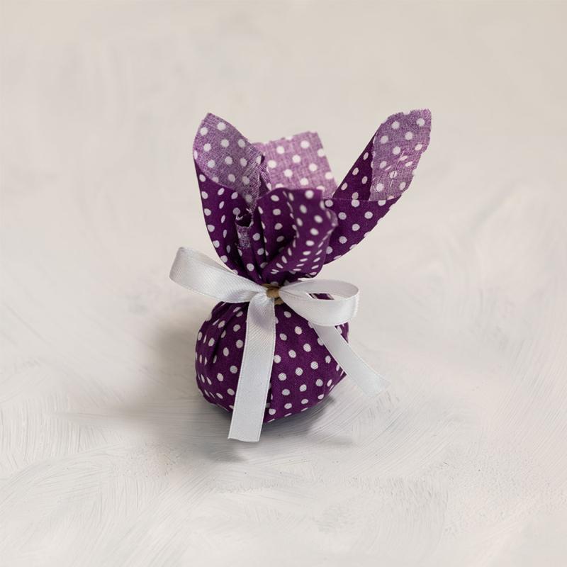 Batyu - sötét lila pöttyös