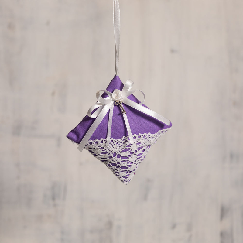 Vintage párna - világos lila